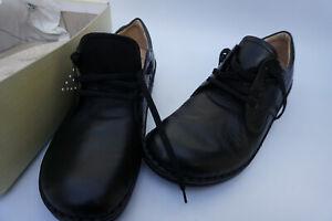 FINN-COMFORT-Vaasa-Damen-Schuhe-Schnuerschuh-mit-Einlagen-Gr-37-Leder-schwarz-NEU