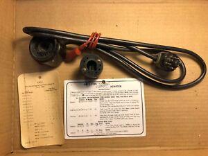 Vintage-Hickok-CRT-1-Test-Socket-Adapter-for-CRT-tubes-w-Instruction-Card