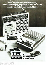 PUBLICITE ADVERTISING 036 1978  Itt Océanic   magnéto-cassettes SL58  radio-cass