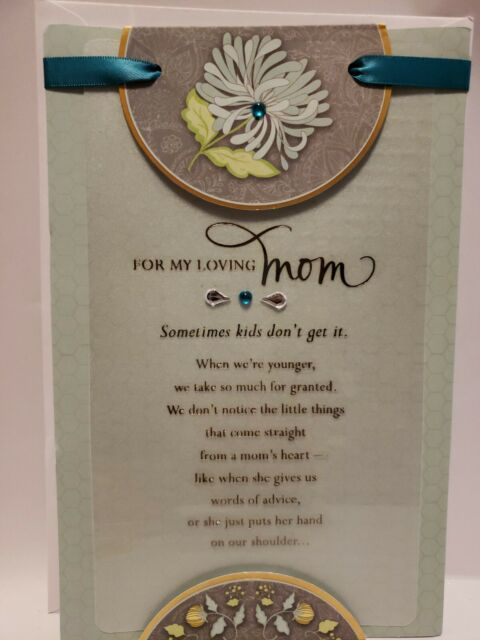 To Loving Mom From Daughter Son Floral Embellished Mother's Day Greeting Card