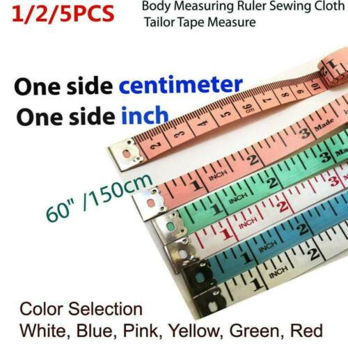 Body Measuring Tape Ruler Sewing Cloth Tailor Measure Soft Flat 150 cm 60 inch