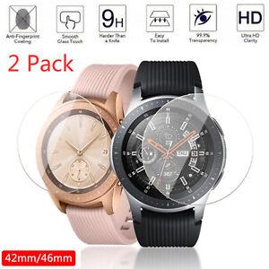 2x-Protector-de-Pantalla-de-Vidrio-Templado-para-Samsung-Galaxy-Watch-46mm-pelicula-transparente