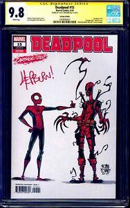 Deadpool-15-SKOTTIE-YOUNG-CARNAGE-VARIANT-CGC-SS-9-8-signed-Scott-Hepburn-NM-MT