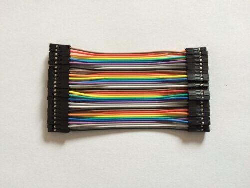 40 Stück 10cm 2.54mm Female to Female Wire Jumper Kabel für 1P-1P For Arduino