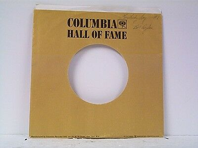 Music Genteel 4-columbia Hall Of Fame Company 45's Sleeves Lot # A-724 To Have A Unique National Style