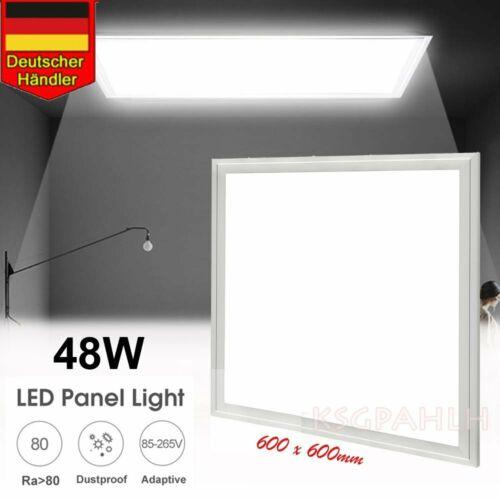 ⭐⭐⭐⭐⭐60x60cm LED Panel Deckenlampe Kaltweiβ Ultraslim Einbauleuchte Trafo DE