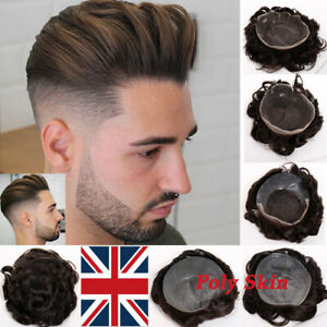 0047f83d7 Mono PU Skin Lace Toupee Men Hairpiece Wig Human Hair Replacement ...