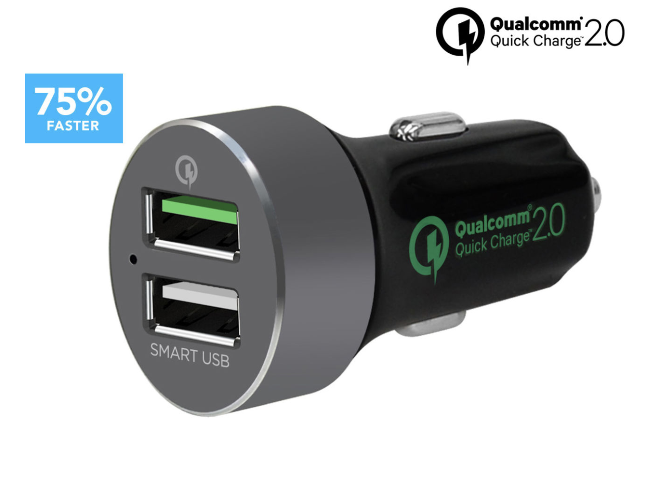 mbeat Quickboost S Certified QC 2.0 & Smart USB Car Charger - *NEW* AUS SELLER
