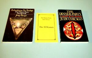 3-BOOKS-JUDY-CHICAGO-DINNER-PARTY-39-WOMEN-FEMINISM-ART-NEEDLEWORK-EMBROIDERING