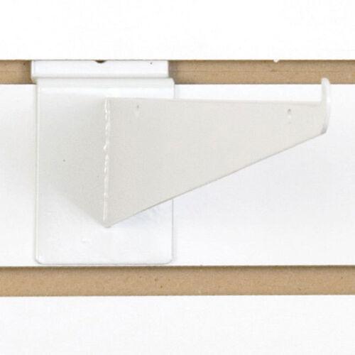 New Retails Heavy Duty Slatwall White Shelf Bracket 12 inch