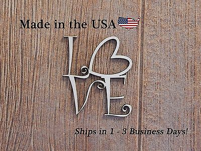 Love Sign Wood Art Wood Love Sign Wall Art Heart Decor Folk Art Ls1005 Ebay