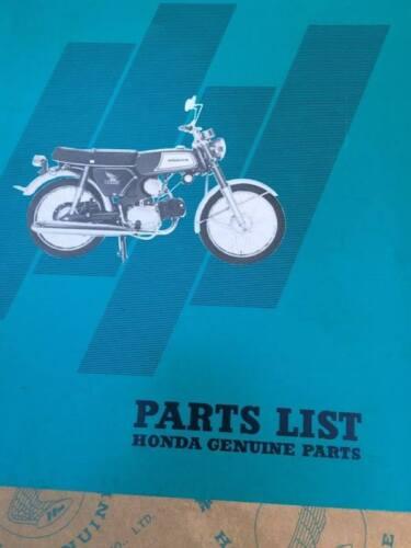 Honda s110 benly Factory Parts list Catalog Genuine Japan NOS