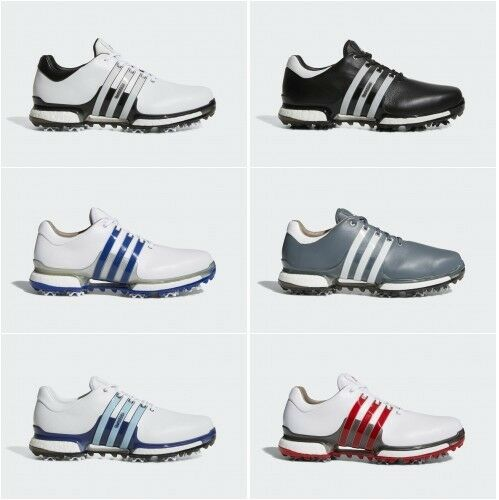 9513c3f8dc72 adidas 2018 Tour 360 Boost 2.0 Waterproof Leather Golf Shoes White icey  Blue mystery Ink UK 10.5 US 11 F 45 1 3 for sale online
