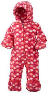 545718651 Girl 3-6M Columbia Fireside Cuddle Snowtop II Fleece Bunting Snow ...