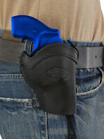 Barsony Black Leather Western Style Holster For Ruger 22 38 357 Snub Nose 2