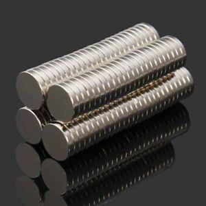 100-Stueck-Starke-Neodym-Magnete-N52-10x2mm-Magnet-Rund-Pinnwand-Kuehlschrank-Set
