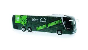 Rietze-Mannschaftsbus-VFL-WOLFSBURG-MAN-Lions-Coach-L-neu-OVP-Bus-Reisebus