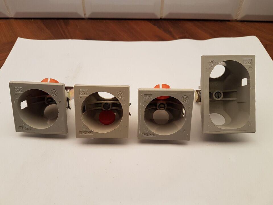 LK NES gamle forfra dåse 1 modul og 1,5 modul, LK NES