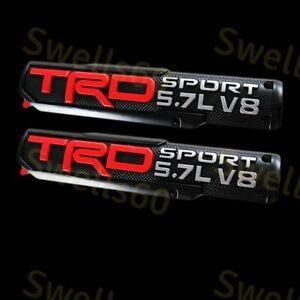 2X TRD PRO/OFF ROAD/BRO/SPORT Door Emblem Sticker Badge For Toyota Tacoma Tundra
