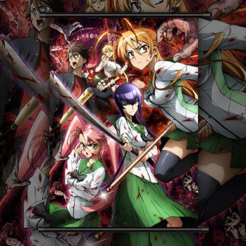 HIGHSCHOOL OF THE DEAD HD Print Anime Wall Poster Scroll Room Decor