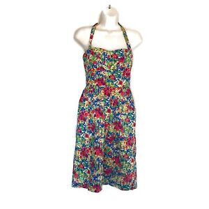 Anthropologie-Sundress-Women-s-Size-2-Multi-Color-Girls-From-Savoy-Pockets