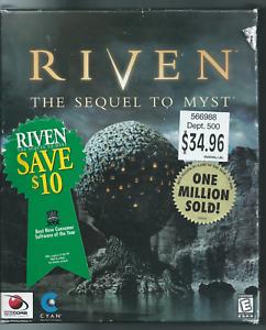 🔥🔥🔥 RIven: The Sequel to Myst (Windows/Mac, PC, 1997, Big Box) New 🎮🎮🎮
