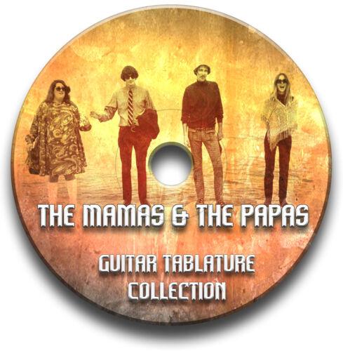 THE MAMAS /& THE PAPAS FOLK ROCK GUITAR TAB TABLATURE SONG BOOK SOFTWARE CD