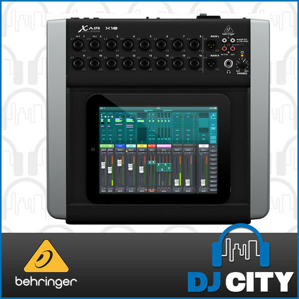 X18 Behringer 18 Channel Digital Mixer Compatible with PC, Mac, iOS and Andro...
