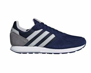 Dettagli su Adidas 8K B44669 Scarpe Sportive Uomo Blu Scuro Palestra Scarpe