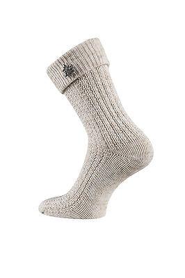 Trachten Socken Damen Trachtenstrümpfe 35//38 Edelweiß Pin abnehmbar Beige