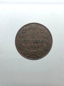 Kingdom-D-039-Italia-1878-1900-Umberto-I-2-Cents-1900-Bel-BB