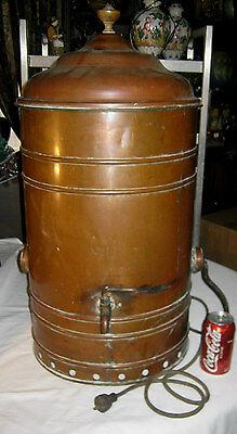 ANTIQUE PRIMITIVE COPPER URN STEAMER BOILER CLAM BAKE SEA STILL POT PAN COOKER
