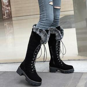 Fur Lined Snow Boots Warm Lace Up