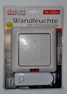 Wandleuchte-mit-Fernbedienung-16-LED-Wand-Lampe-Leuchte-Batterie-betrieben-Licht