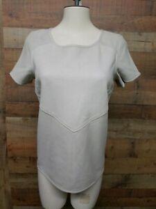 Maison-Scotch-100-Sheep-Leather-Jac-Jacket-Women-039-s-Shirt-Size-1-New-See-detail