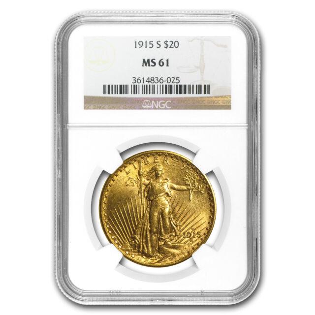 $20 Saint-Gaudens Gold Double Eagle MS-61 NGC (Random) - SKU #32489