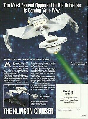 FRANKLIN MINT-STAR TREK-Klingon Cruiser 1989 Pewter Model