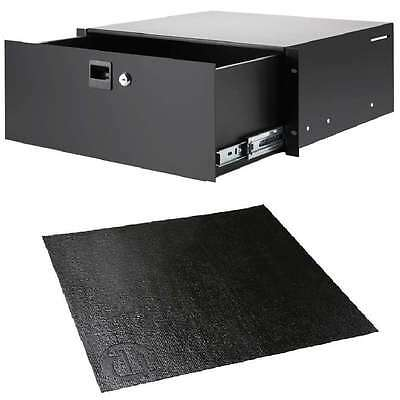 "Anti-rutsch-matte Neu To Be Highly Praised And Appreciated By The Consuming Public Energetic 4 He 19"" Alu-rackschublade Mit Schloss Adam Hall 87404a Rackmount Cabinets & Frames"
