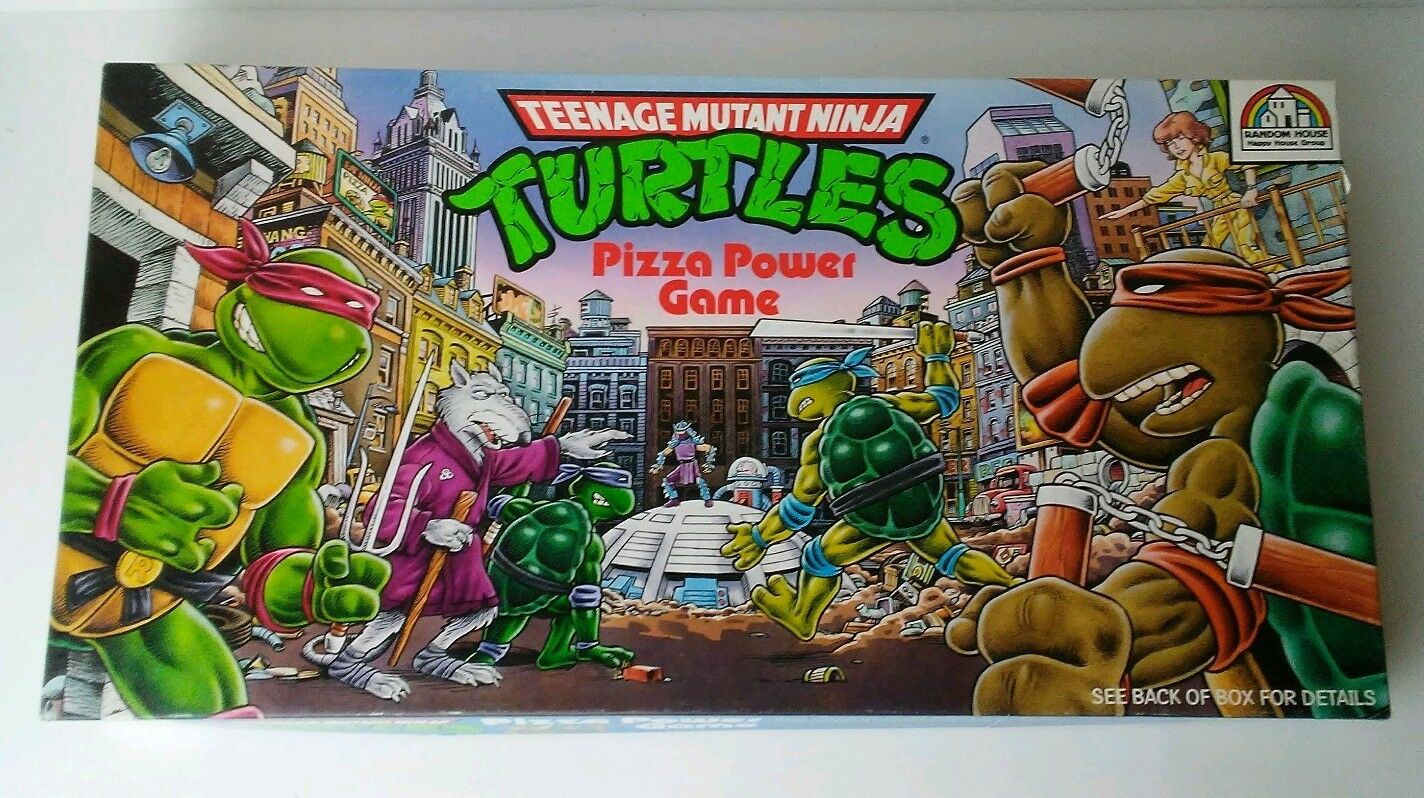 Jahrgang 1987 teenage mutant ninja turtles pizza macht brettspiel tmnt abgeschlossen