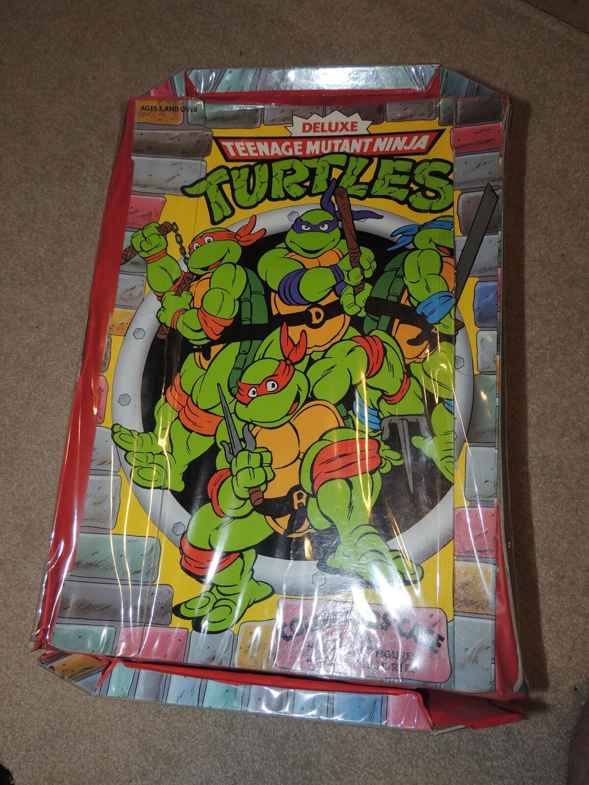 Vintage TMNT Teenage Mutant Ninja Turtle Figure Lot & Case