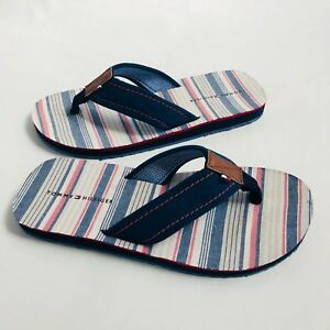 bce18c1ea9d13 NWT Men s Tommy Hilfiger Flip Flop Stripe Flag Logo Red White Blue 8 ...