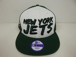 huge selection of 90a8b cc671 Image is loading New-Era-9Fifty-New-York-Jets-Youth-Adjustable-