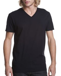 Next-Level-Mens-T-Shirt-100-Cotton-V-Neck-N3200-Short-Sleeves-T-Shirt-XS-2XL