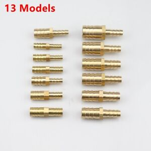 3//8 Inch Brass Barb Hose Splicer Mender Fitting Pipe 3//8 x 3//8 Hose ID Connector Adapter for Fuel Air Water Gas Oil 5, 3//8 Barb x 3//8 Barb