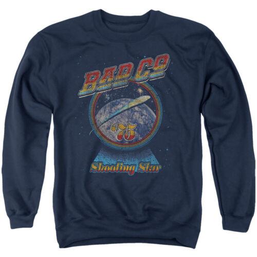 Bad Company Shooting Star Crewneck Sweatshirt Licensed Rock Band Merch Navy Blue