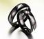 Coppia-Fedi-Fede-Fedine-Anello-Anelli-Nero-Fidanzamento-Nuziali-Cristallo-Occhio miniatura 2