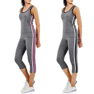 Completo Abbigliamento Fitness Canotta+Leggins Sportivo Palestra