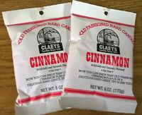 Claeys Cinnamon Old Fashioned Hard Candy 2 Pack 6oz Bags Fast Shipping
