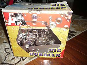 AFX BUBBLE MACHINE BIG BUBBLER FROGGY'S FOG FX MILLION BUBBLES METAL 110V