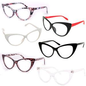 60c11f24d6 Cat Eye Retro Vintage Mod 50s Fashion Clear Lens Glasses Eyewear ...